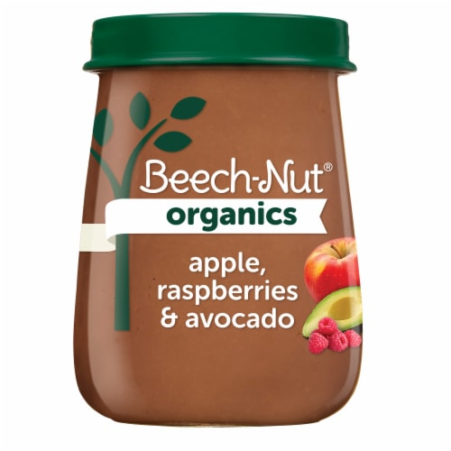 Beech-Nut Organics Apple Raspberries & Avocado Stage 2 Baby Food Perspective: front