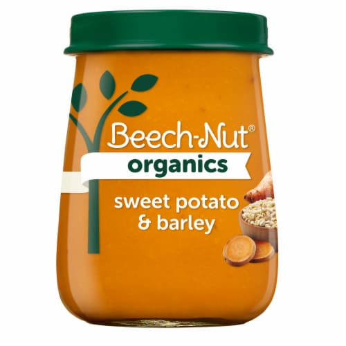 Beech-Nut Organics Sweet Potato & Barley Stage 3 Baby Food Perspective: front