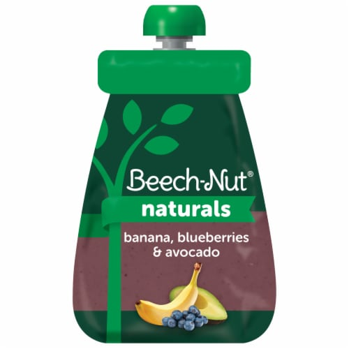 Beech-Nut Banana Blueberry Avocado Stage 2 Baby Food Perspective: front