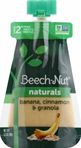 Beech-Nut Banana Cinnamon Granola Stage 2 Baby Food Perspective: front