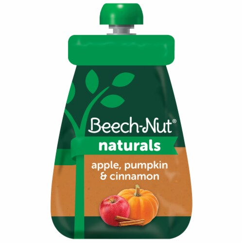 Beech-Nut® Naturals Stage 2 Apple Pumpkin & Cinnamon Baby Food Pouch Perspective: front