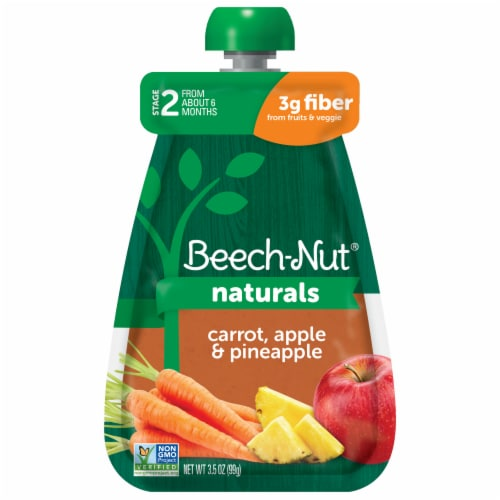Beech-Nut® Naturals Stage 2 Carrot Apple & Pineapple Food Pouch Perspective: front