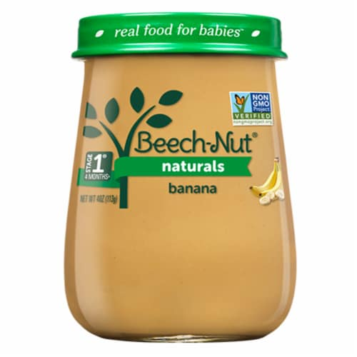 Beech-Nut Naturals Banana Stage 1 Baby Food Perspective: front