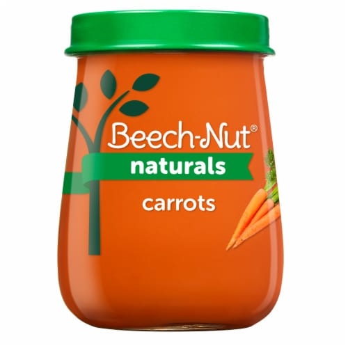 Beech-Nut Naturals Carrots Stage 1 Baby Food Perspective: front
