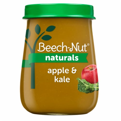 Beech-Nut Naturals Apple & Kale Stage 2 Baby Food Perspective: front