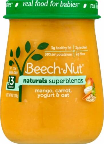 Beech-Nut® Naturals Superblends Stage 3 Mango Carrot Yogurt & Oat Baby Food Perspective: front