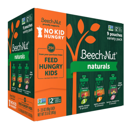 Beech-Nut Naturals Stage 2 Baby Food Variety Pack Perspective: front