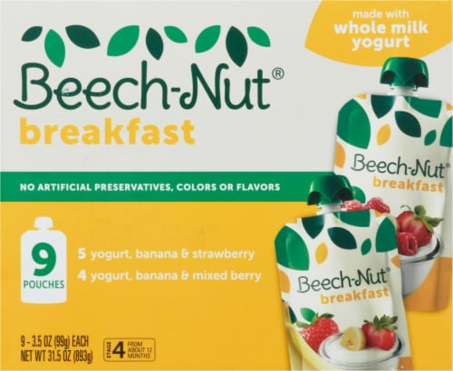 Beech-Nut Breakfast Stage 4 Baby Food Variety Pack Perspective: front