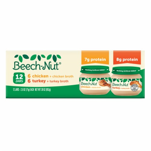 Beech-Nut Chicken & Turkey Stage 1 Baby Food Variety Pack Perspective: front