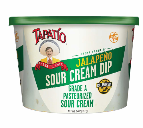 Tapatio Jalapeno Sour Cream Dip Perspective: front