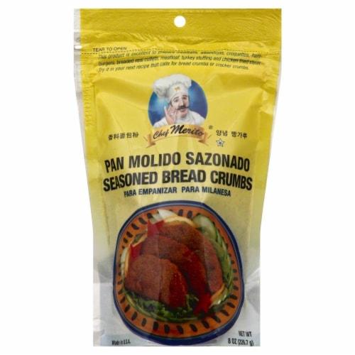 Chef Merito Seasoned Bread Crumbs Perspective: front