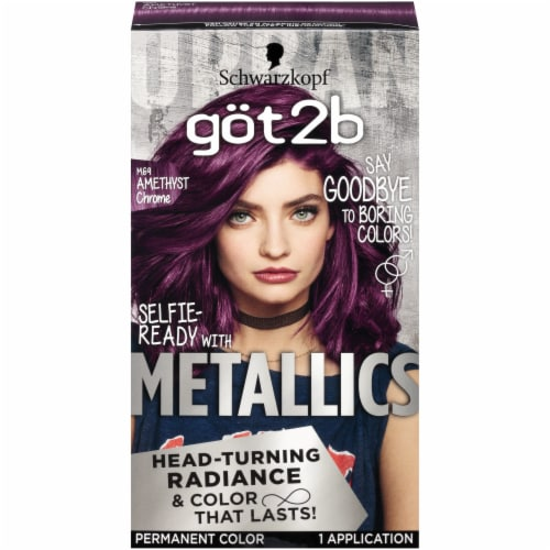 Got2b Metallics Amethyst Chrome Permanent Hair Color Perspective: front