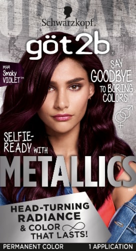 got2b Metallics M49 Smoky Violet Permanent Hair Color Perspective: front