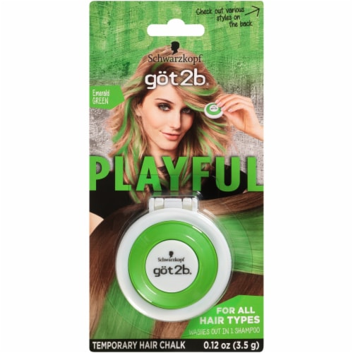 got2b Playful Emerald Green Temporary Hair Chalk Perspective: front