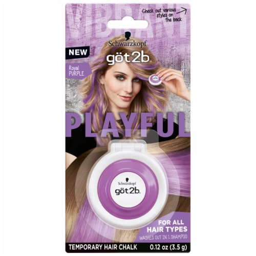 got2b Playful Royal Purple Temporary Hair Chalk Perspective: front