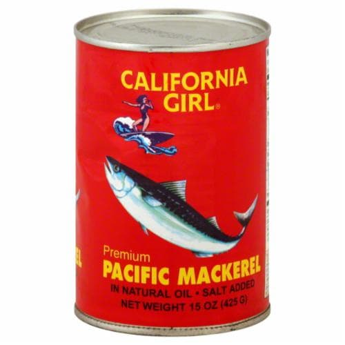 California Girl Pacific Mackerel Perspective: front