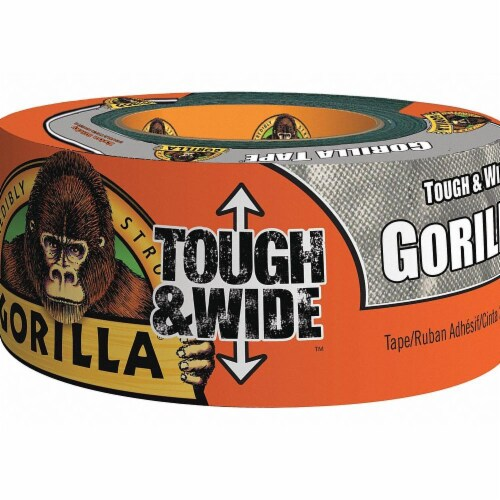 Gorilla Duct Tape,Gray,2 7/8 in x 25yd,16.75 mil  105680 Perspective: front