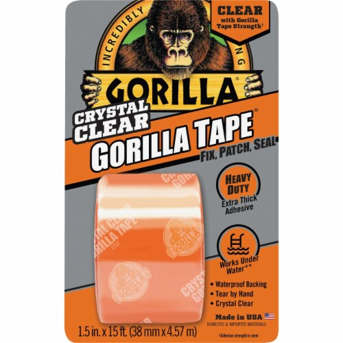 Gorilla® Crystal Clear Duct Tape Perspective: front