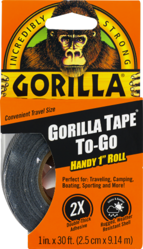 Gorilla Travel Size Tape - Black Perspective: front