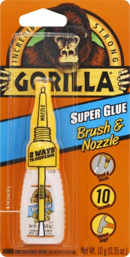 Gorilla Super Glue Brush and Nozzle - Clear Perspective: front