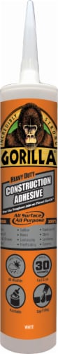 Gorilla Heavy Duty Construction Adhesive - White Perspective: front