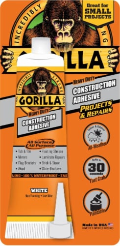 Gorilla® Heavy Duty Construction Adhesive - White Perspective: front