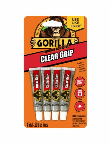Gorilla Clear Grip Glue Tubes Perspective: front