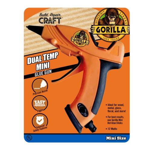 Gorilla® Mini Hot Glue Gun - Orange Perspective: front