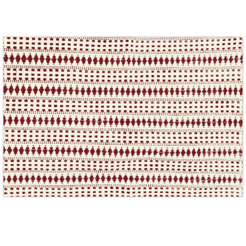 Lintex Genevieve Placemat - Red/White Perspective: front
