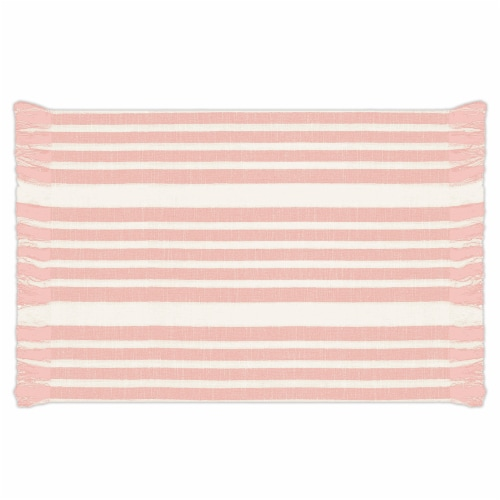 Lintex Madison Placemat - Blush/White Perspective: front