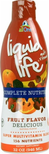 All One Nutritech  Liquid Life® Multi Vitamin Complete Nutrition   Fruit Perspective: front