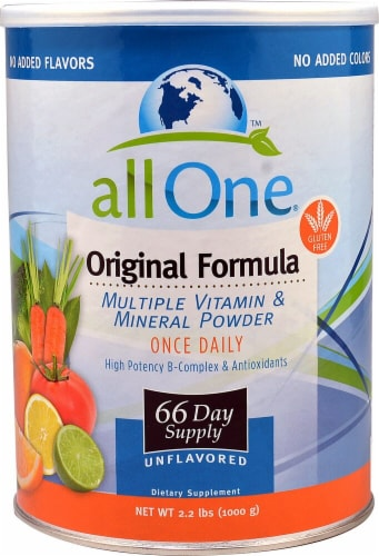 All One Nutritech  Original Formula Multiple Vitamin and Mineral Powder Perspective: front