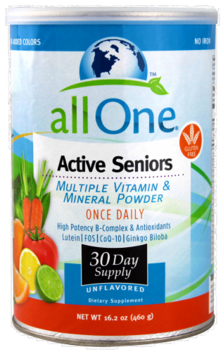 All One Active Seniors Vitamin Powder Dietary Supplement Perspective: front