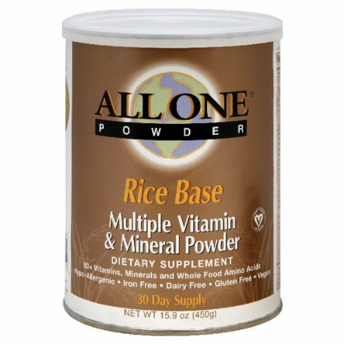 All One Rice Multiple Vitamin & Mineral Powder Perspective: front