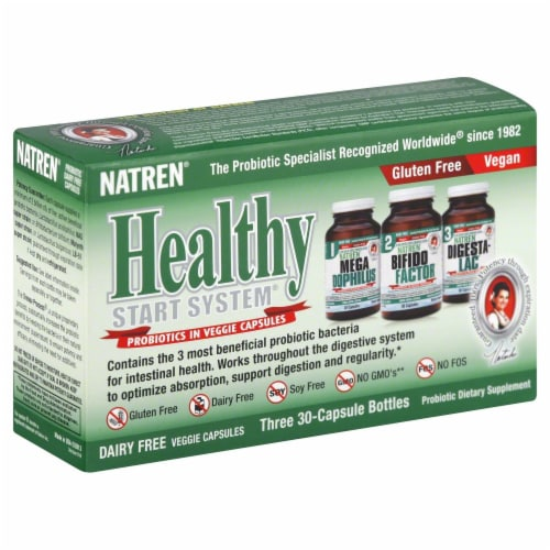 Natren Healthy Start System Probiotic Dietary Supplement Capsules Perspective: front