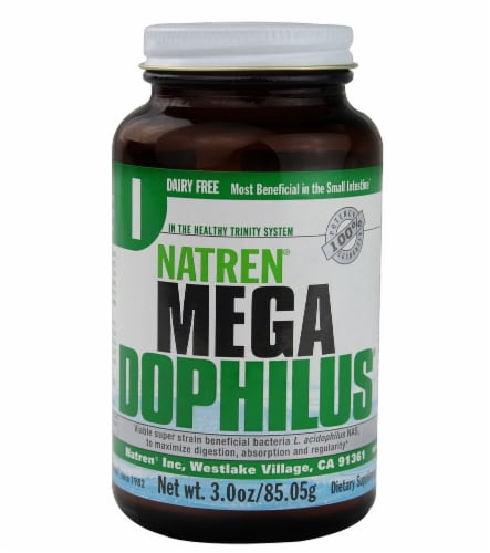 Natren  Mega Dophilus Dairy Free Perspective: front