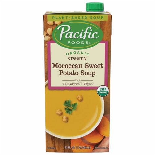 Pacific Foods Organic Creamy Moroccan Sweet Potato Soup Perspective: front