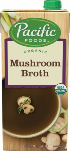 Pacific Natural Foods Organic Mushroom Broth Perspective: front