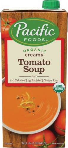 Pacific Organic Creamy Tomato Soup Perspective: front