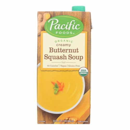 Pacific Natural Foods Organic Creamy - Butternut Squash - Case of 12 - 32 Fl oz. Perspective: front