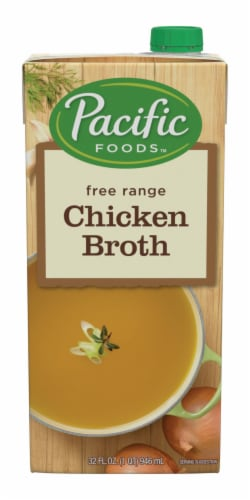 Pacific Foods Free Range Chicken Broth Perspective: front