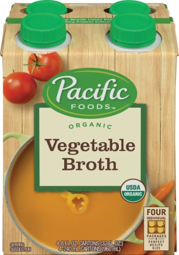 Pacific Organic Vegetable Broth Perspective: front