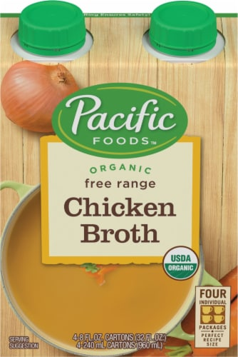 Pacific Organic Free Range Chicken Broth Perspective: front