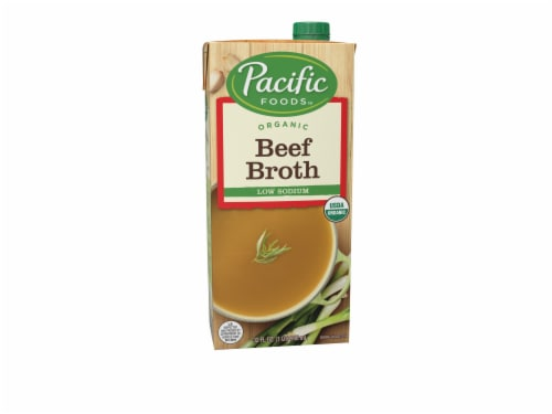 Pacific Organic Low Sodium Beef Broth Perspective: front