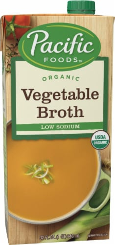 Pacific Organic Low Sodium Vegetable Broth Perspective: front