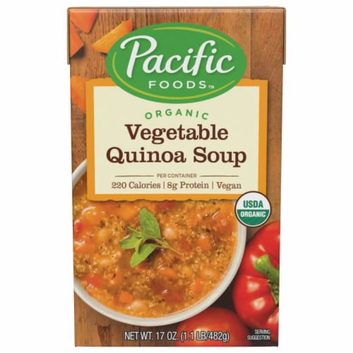 Pacific Foods Organic Vegetable Quinoa Soup Perspective: front