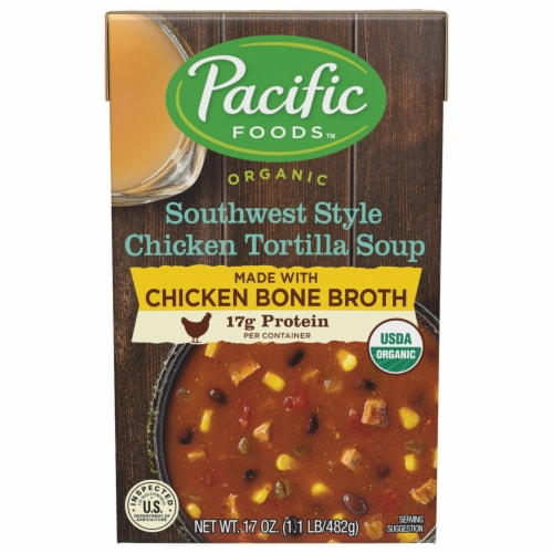 Pacific Organic Southwest Style Chicken Tortilla Soup Perspective: front