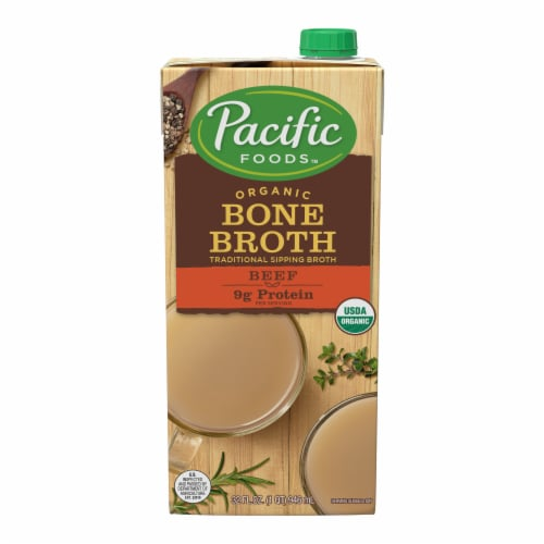Pacific Organic Beef Bone Broth Perspective: front