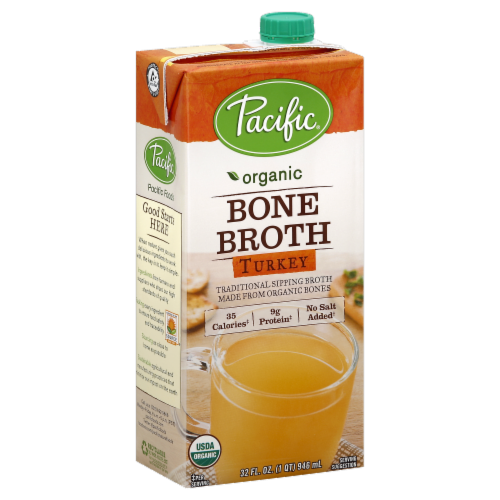 Pacific Organic Turkey Bone Broth Perspective: front