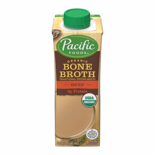 Pacific Foods Organic Beef Bone Broth Perspective: front